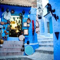 Пазл онлайн: Синий город  в Марокко