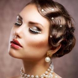 Пазл онлайн: Свадебная прическа - винтаж