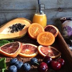 Пазл онлайн: Свежесть фруктов