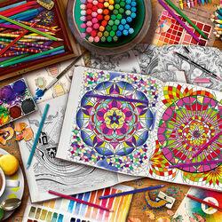 Пазл онлайн: Стол художника