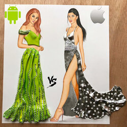Пазл онлайн: Android Vs.iPhone OS