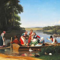 Пазл онлайн: Катание на лодках