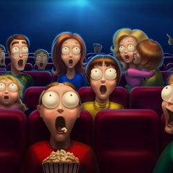 Пазл онлайн: В кинотеатре