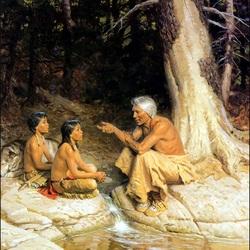 Пазл онлайн: Рассказ старого индейца