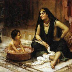 Пазл онлайн: Наложница с ребенком
