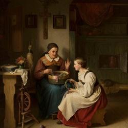 Пазл онлайн: Бабушка и внучка