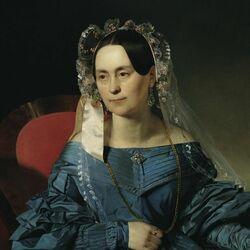 Пазл онлайн: Дама в голубом платье