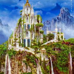 Пазл онлайн: Эльфийский замок