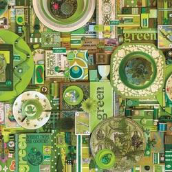 Пазл онлайн: Зеленый