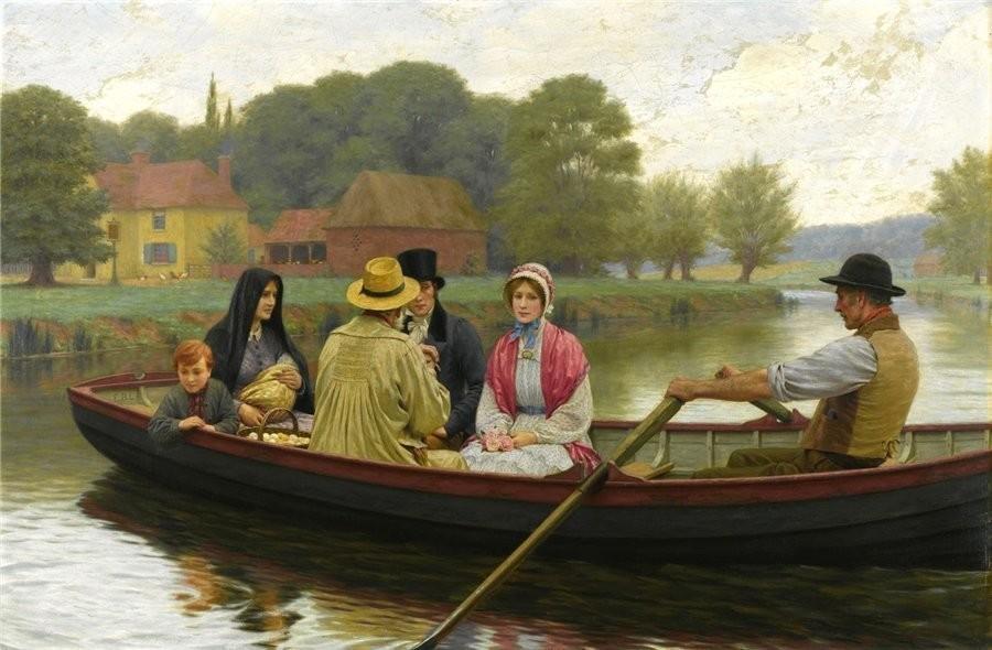 картина невеста в лодке
