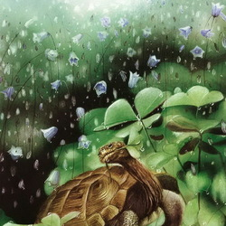 Пазл онлайн: Обед черепахи