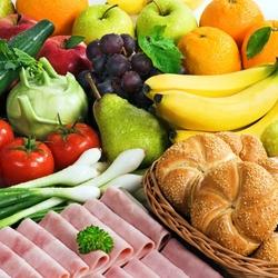 Пазл онлайн: Овощи, фрукты, разные продукты