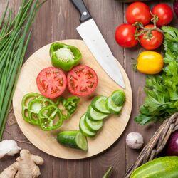Пазл онлайн: Овощи для салата