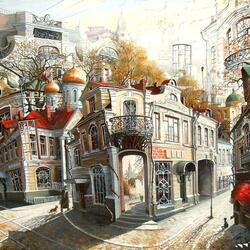 Пазл онлайн: Сказки старого Арбата