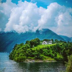 Пазл онлайн: Дом на острове