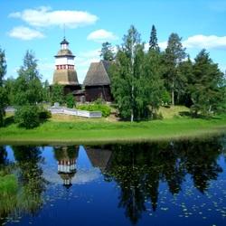 Пазл онлайн: Деревенская церковь