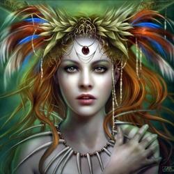 Пазл онлайн: Tribal goddess / Богиня племени