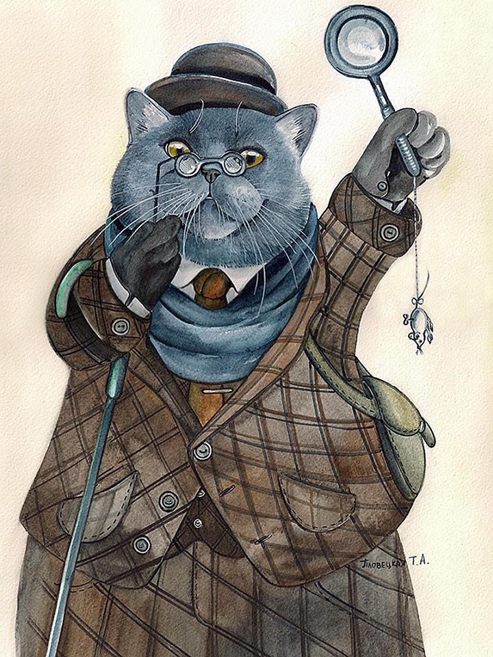 коты шерлок холмс и доктор ватсон картинки стриженов уже