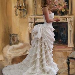 Пазл онлайн: Платье с турнюром
