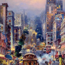 Пазл онлайн: Улицы Сан-Франциско