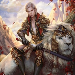 Пазл онлайн: Рыцарь Белого льва