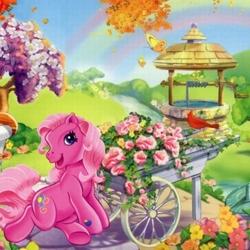Пазл онлайн: Розовый пони