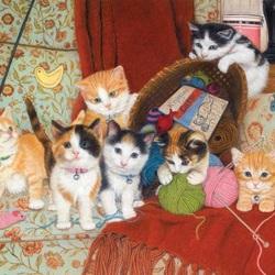 Пазл онлайн: Игрушки для котят