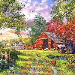 Пазл онлайн: Ферма