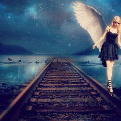 Пазл онлайн: Девушка-ангел