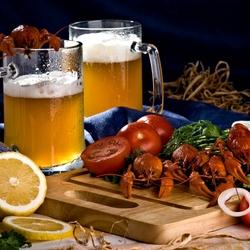 Пазл онлайн: Пиво, раки