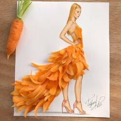 Пазл онлайн: Из ломтиков моркови.