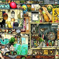 Пазл онлайн: Что лежит в кладовке?