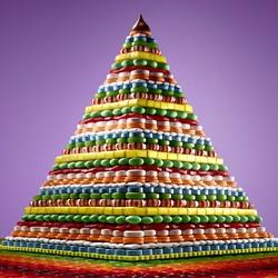 Пазл онлайн: Сладкая пирамида