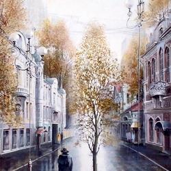 Пазл онлайн: Прогулка после дождя