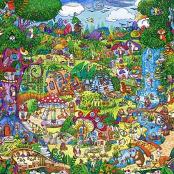 Пазл онлайн: Необычный городок