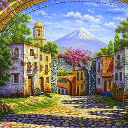 Пазл онлайн: Цветущая арка