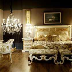 Пазл онлайн: Спальня в стиле арт-деко