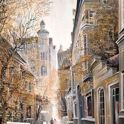 Пазл онлайн: Осенние улочки Москвы