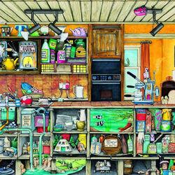 Пазл онлайн: Странная кухня