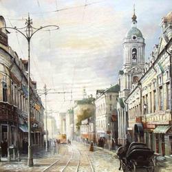 Пазл онлайн: Яузская улица, какой она была