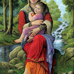 Пазл онлайн: Материнские объятия