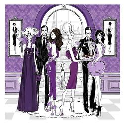 Пазл онлайн: Модный банкет