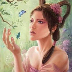Пазл онлайн: Среди бабочек