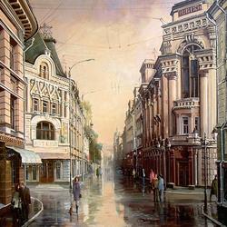 Пазл онлайн: Утро на Кузнецком