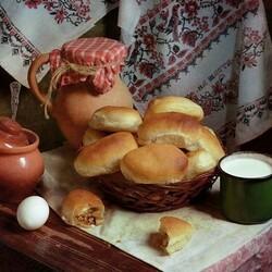 Пазл онлайн: Бабушкины пирожки
