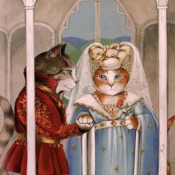 Пазл онлайн: Генрих V сватается к принцессе Екатерине