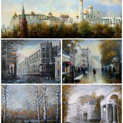 Пазл онлайн: Москва, 20 век