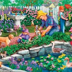 Пазл онлайн: В саду у бабушки