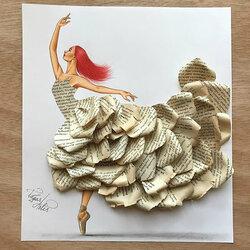 Пазл онлайн: Платье, сделано из книги