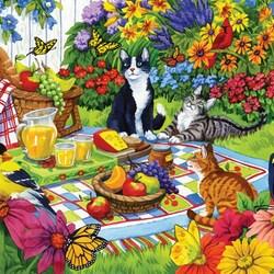 Пазл онлайн: Пикник на заднем дворе
